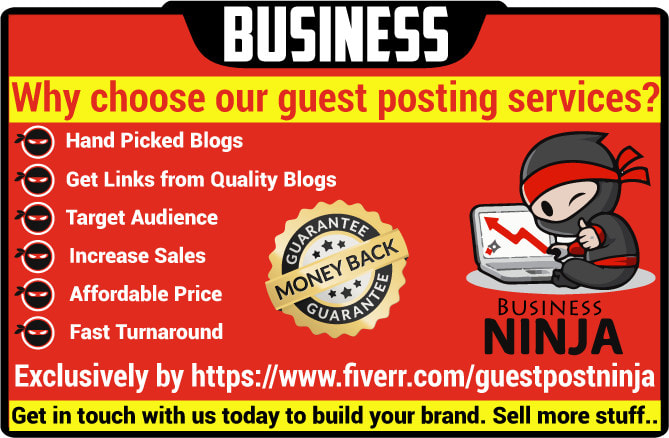 do high quality guest post on business blogs