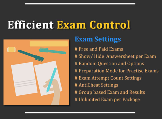 give online quizzes exams management system PHP script