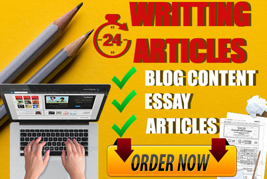 write essays, blog content, and articles in 24 hours