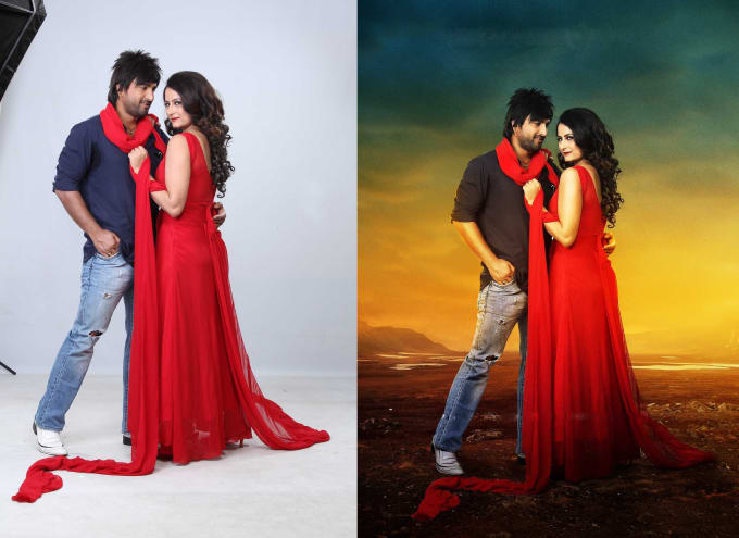 Do photoshop editing with background change by Borshahasan_ex
