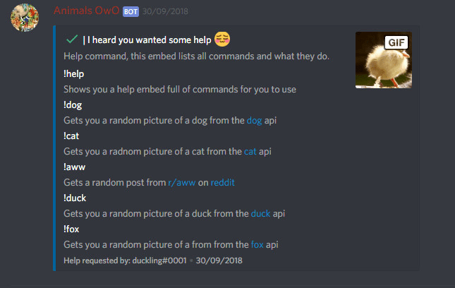 quakerman_js : I will create a discord bot made in javascript for $5 on  www fiverr com