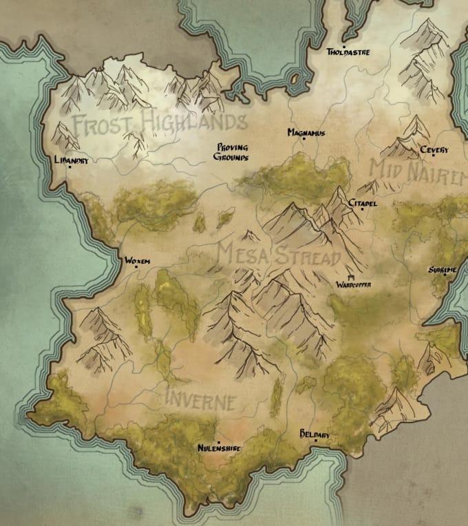 How To Create A Fictional World Map.Create A Fantasy World Map By Tosatoal