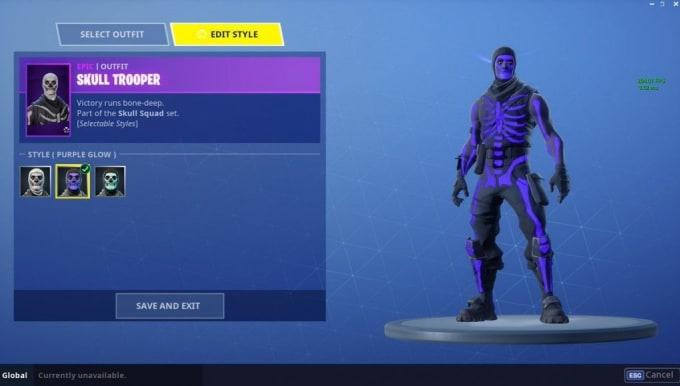 Hi I Will Use Purple Skull Trooper In Fortnite Battle Royale By