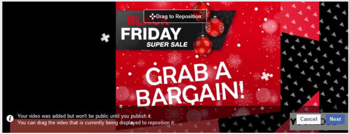 Customize Black Friday Facebook Cover Video