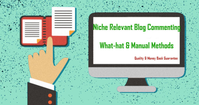 do niche relevant blog comment, manually