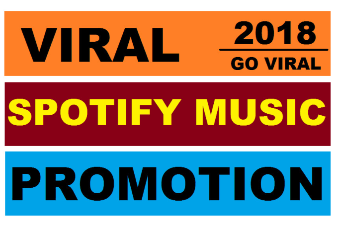 Do spotify music promotion and make you a super star by