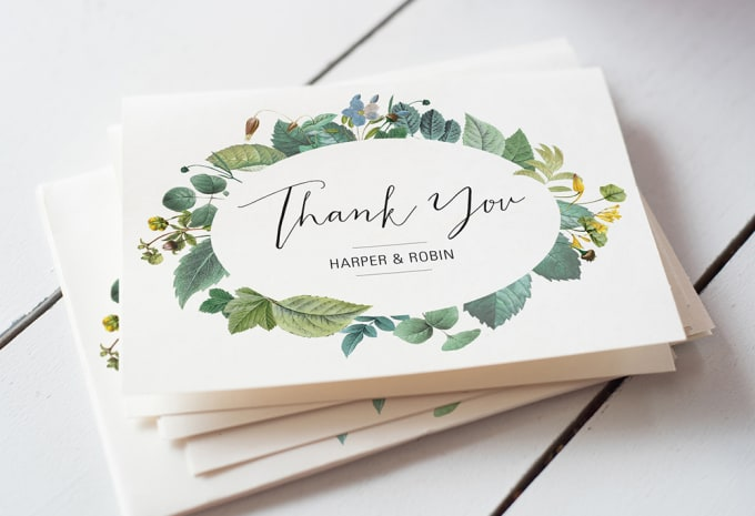 Design An Elegant And Custom Thank You Card By Ilyasdesigner