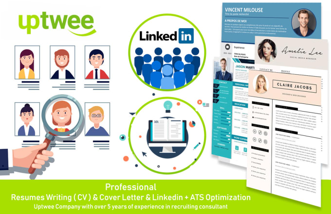 provide a professional ats resume,cover letter and linkedin