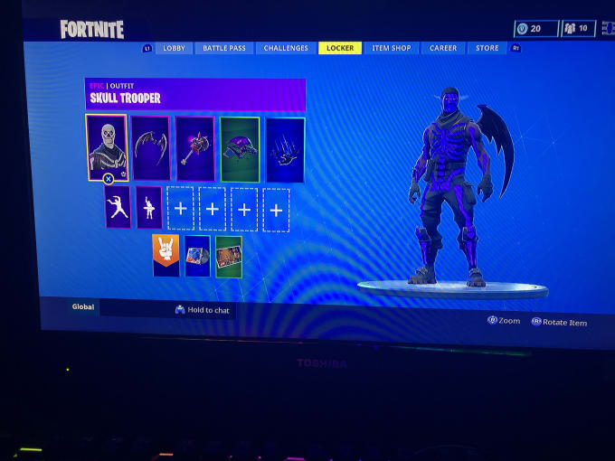 play fortnite with u btw I have a purple skulltrooper
