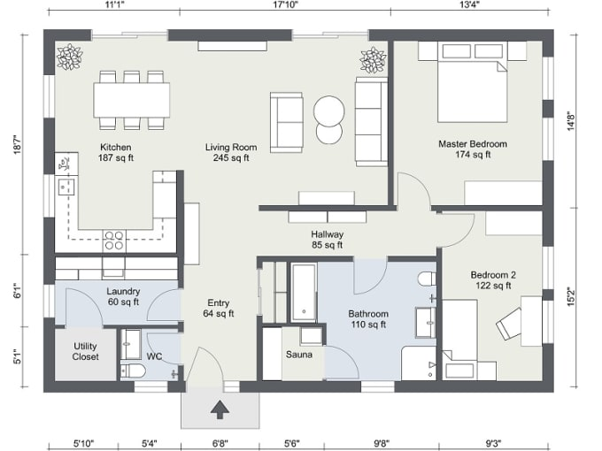 Making Full 2d Floors Plan By Superiorprof