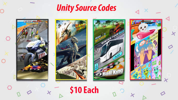 ihsan8700 : I will give you my unity games source codes, inbox for the list  for $10 on www fiverr com