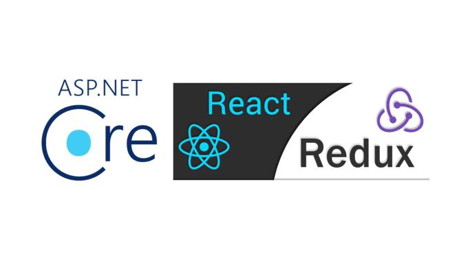 develop asp core web app with react redux