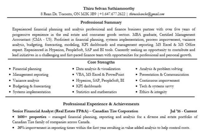 Review Or Help Write Resume