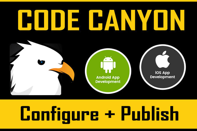 configure codecanyon android ios app publish it