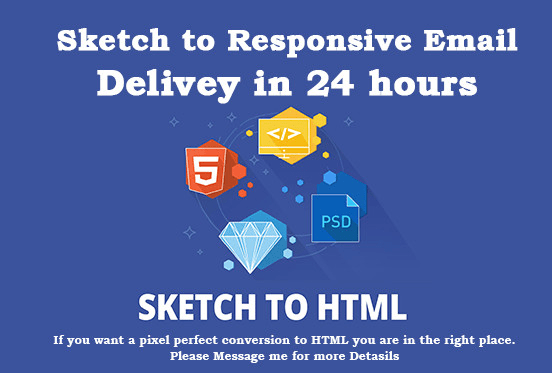 Code Sketch To Responsive Html Email Template By Riyamoni