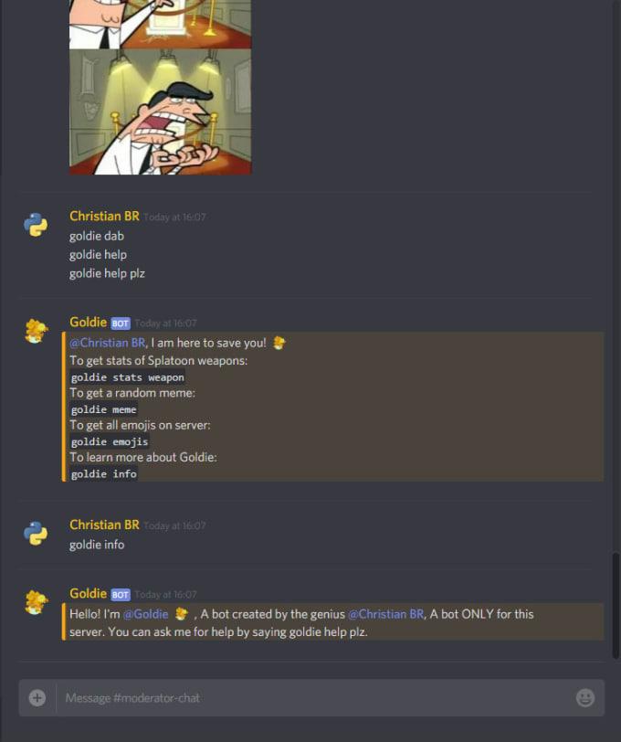 make you a discord bot