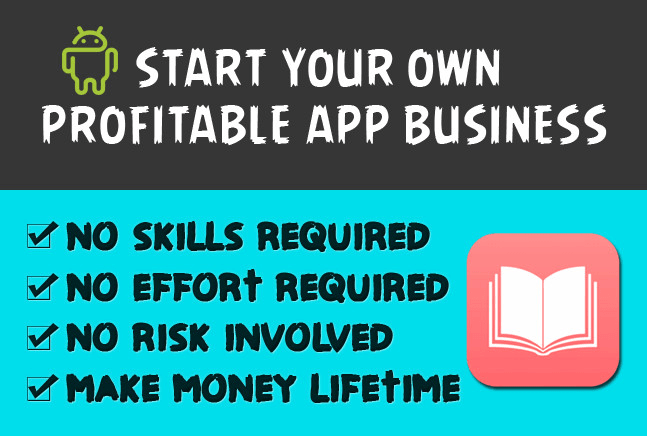 create android ebook app story book app to earn money