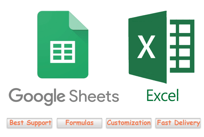 solve or create formulas for google sheets and excel