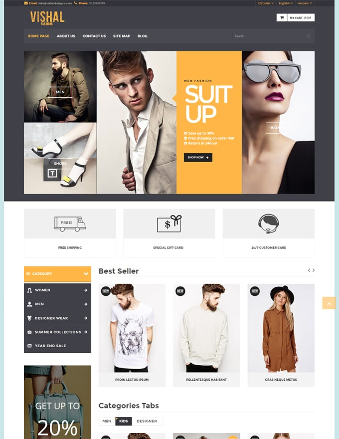 Do Creative Website Mockup Design In 12 Hours By Ajesh05