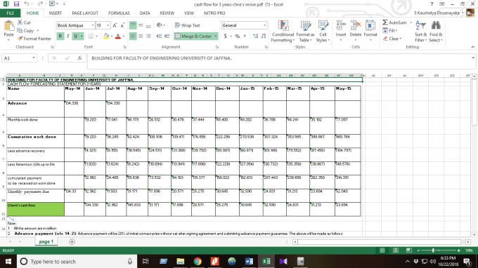 enter your data with ms word,excel