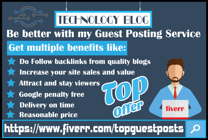 accept guest post articles on my tech blogs