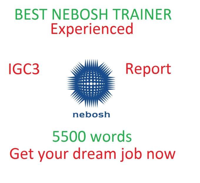 nebosh certificate coursework