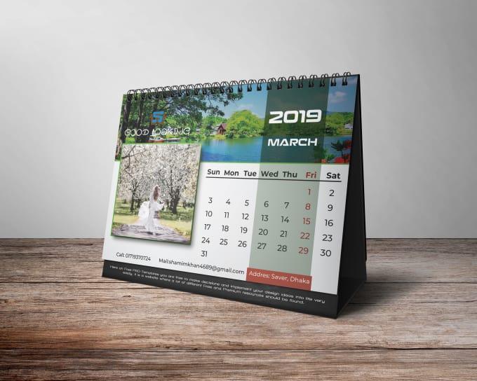 Do Good Looking Unique Smart Desk And Wall Calendar Design
