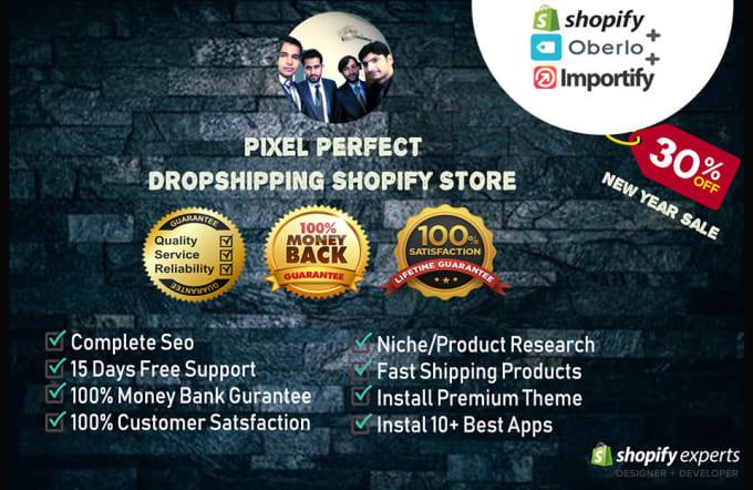 do pixel perfect dropshipping shopify store plus code customization