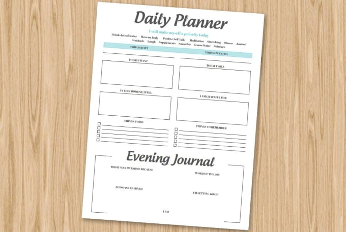 create awesome daily planner by malimarsovac