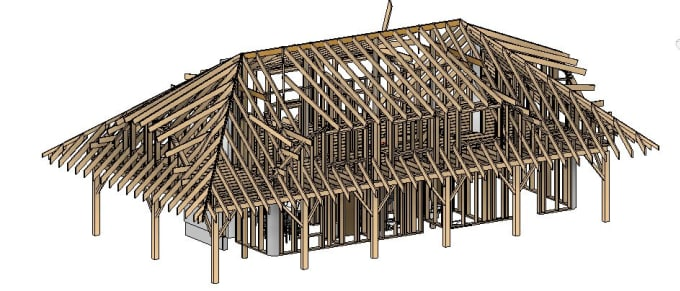 andrew_008 : I will create 3d wooden houses structures model autodesk revit  sketchup for $70 on www fiverr com
