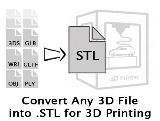 jayzilk : I will convert your 3d object into an stl for $5 on www fiverr com