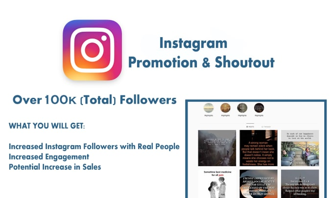 Do proffesional instagram promotion on 100k quotes pages by ...