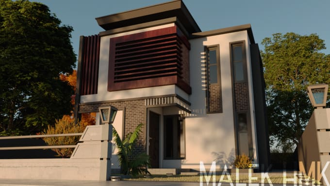 do an amazing 3d architectural design with sketchup and vray