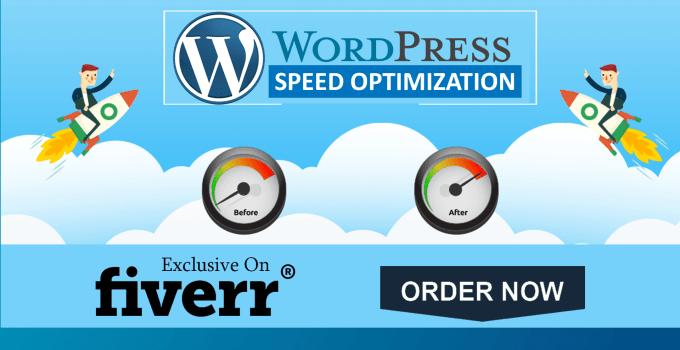 Wordpress website speed optimization by Talhatayeeb