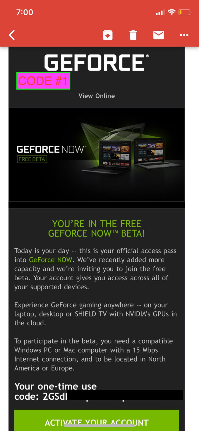 Nvidia Geforce Now Code Free