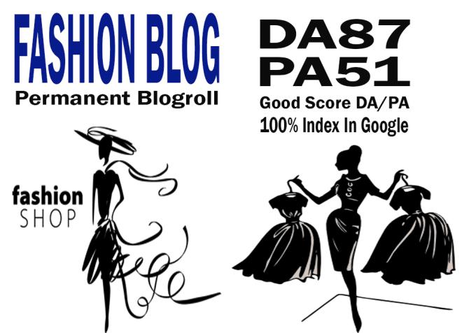give you backlinks da87x7 blogroll fashion and beauty