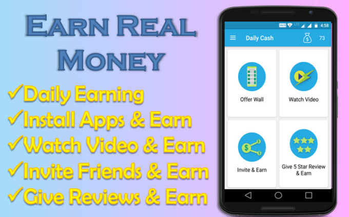 fullstackcube : I will create a professional earning android app and earn  money with that for $5 on www fiverr com