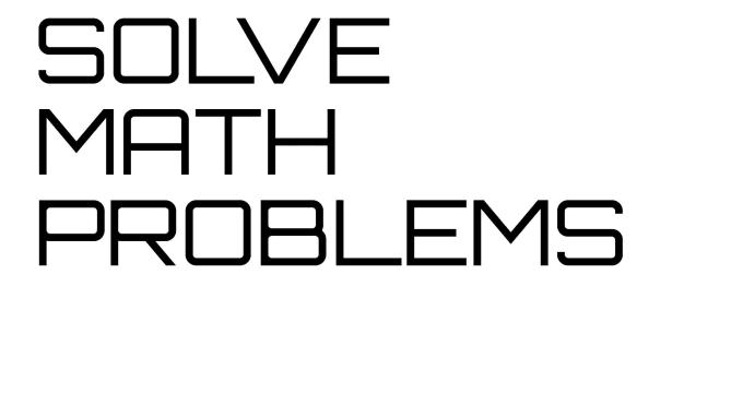any math problem