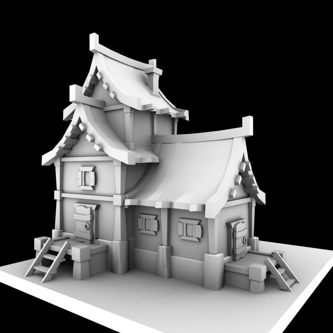 low poly environment modeling
