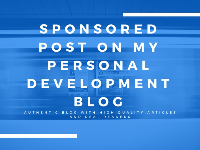 annalie1 : I will do your guest post on my personal development blog for  $50 on www fiverr com
