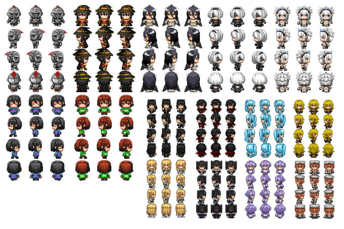 Create Rpg Maker Styled Sprites By Archinversion