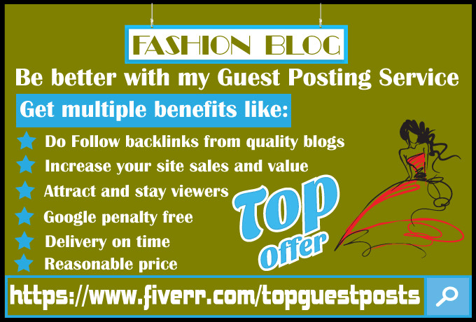 accept guest post for my fashion blogs