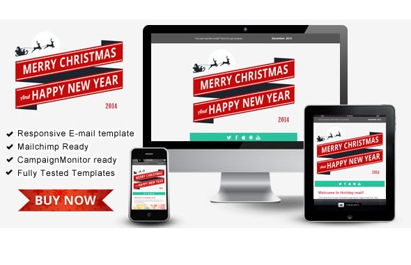 Design Happy New Year Responsive Email Templates By Mahmudulrifat
