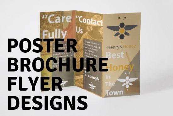 make business flyer design or brochure design by farhangraphics