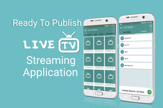create android live tv streaming app
