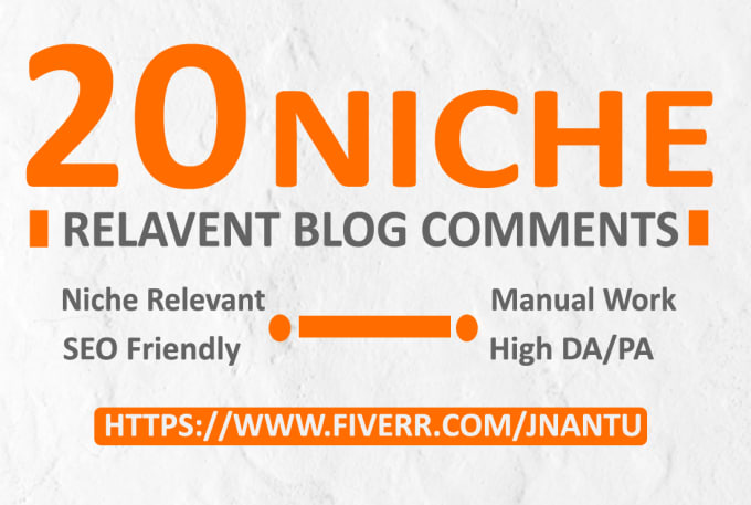 do 20 niche relevant blog comment SEO backlinks
