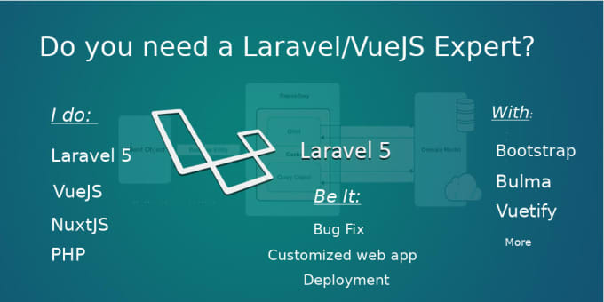fix bugs and build any php, laravel, vuejs web app