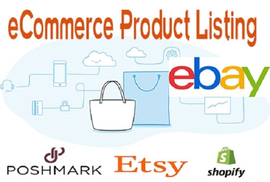 do product listing on ecommerce site from ebay item number