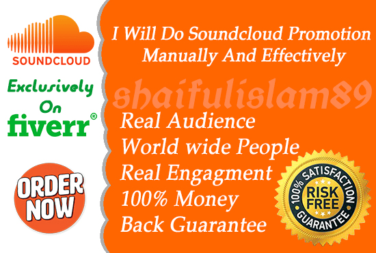 do soundcloud promotion manually and effectively