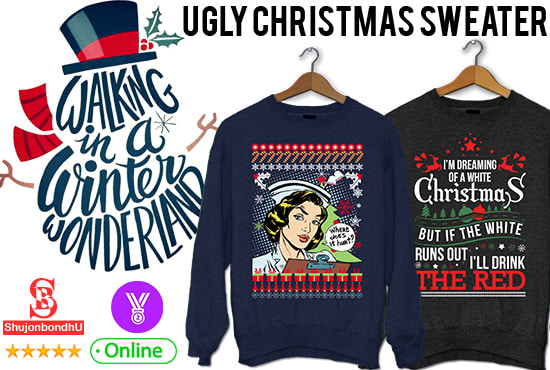 4bdbfe9f162 Create ugly christmas sweater design by Shujonbondhu